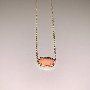 Kendra Scott Elisa pendant necklace in Coral